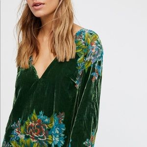 Free People Moana Burnout Velvet Dress